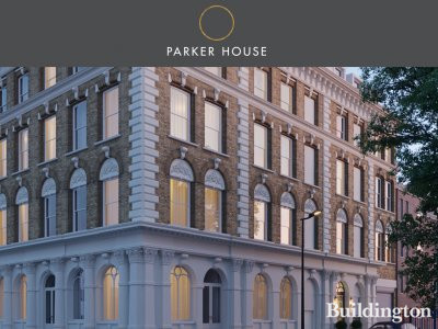 Screen capture of Parker House website at parkerhousew2.co.uk.