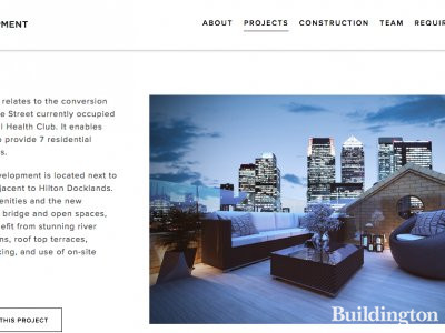 Dockside Terrace on London Development Group's website at londondg.co.uk; screen capture.