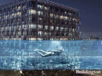 The Sky Pool at Embassy Gardens development in London