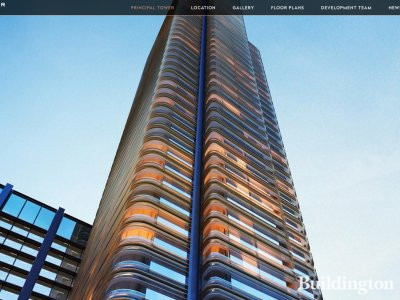 Screen capture of Principal Tower website at principaltower.com