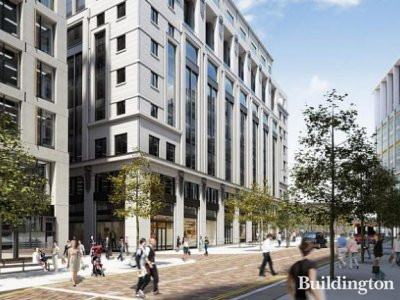 Three Pancras Square building CGI at www.kingscross.co.uk; screen capture
