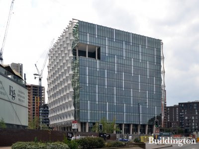 The New Embassy for the United States of America in Nine Elms in July 2017.