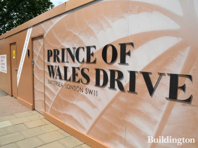 Prince of Wales Drive development hoarding in July 2017