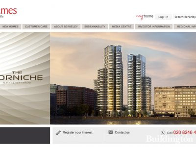 Screen capture of The Corniche page on St James site at www.berkeleygroup.co.uk