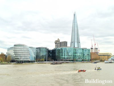 View to More London development from across the river.