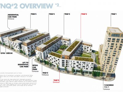 Site map of TNQ Capitol Way from TNQ2 brochure at adkl.co.uk; screen capture.