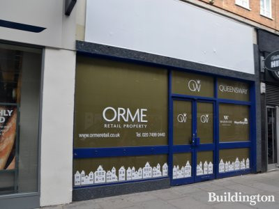 136 Queensway advertised to let by Orme Retail, Warrier Property Group and MeyerBergman in July 2017;