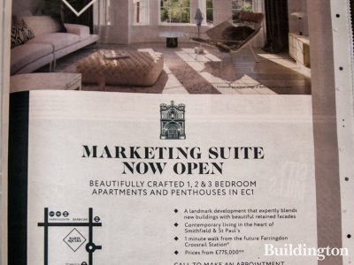 Barts Square advertising in Homes & Property, Evening Standard 8.10.2014