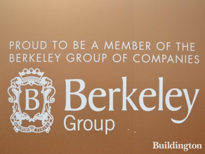 Berkeley logo at Prince of Wales Drive development site in July 2017