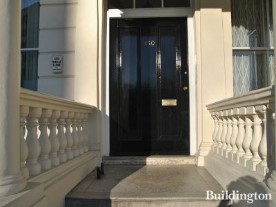 Entrance to 150 Gloucester Terrace in Bayswater, London W2.