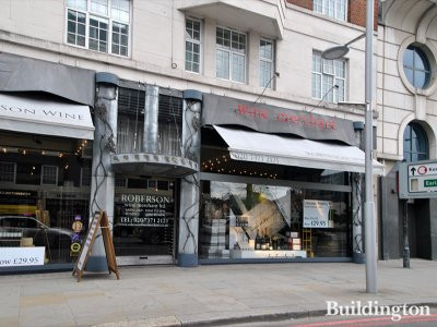 Wine merchant Roberson shop at 348 Kensington High Street in 2014 (closed here in 2015).