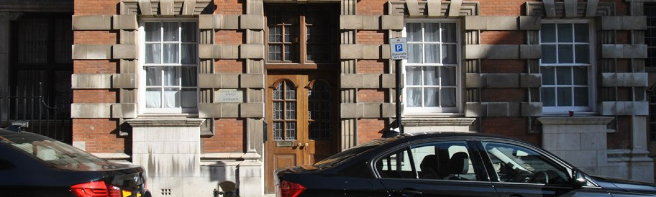 Entrance to Millbank House in Little College Street