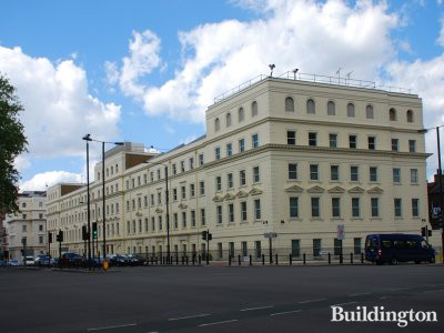 1 Bessborough Gardens, view to the building from Grosvenor Road