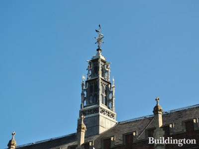 The wood louvre with a large weather-vane rising from the ridge of roof at the Great Hall in Lincoln's Inn, London WC2.