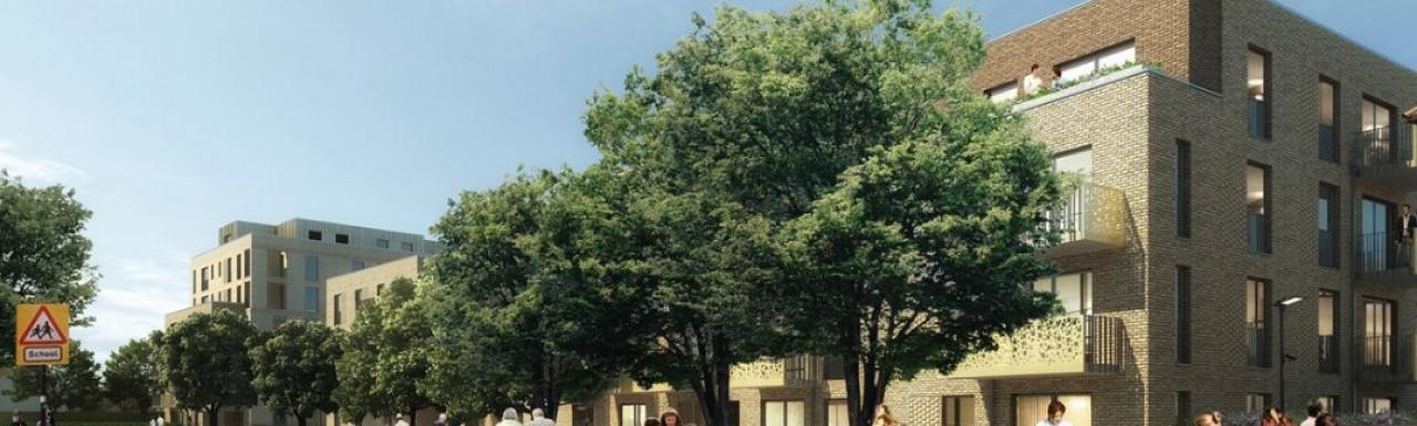 Hounslow Town School development in Hounslow, London TW3.
