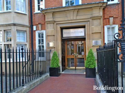 Entrance to Coleherne Court on Old Brompton Road in London SW5
