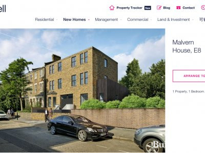 Malvern House on estate agent Currell's website at currell.com in August 2017; screen capture.