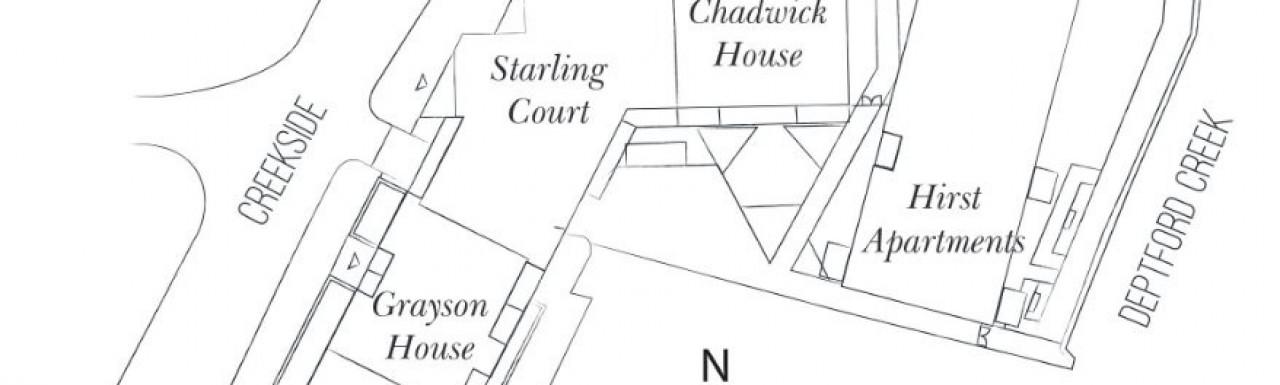 Site plan of Kent Wharf at bellway.co.uk; screen capture.