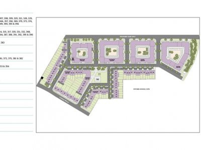 Site plan for Trinity Square by Barratt in Colindale, London NW9. Screen capture from the development website at barratthomes.co.uk