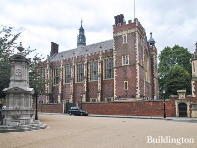The Great Hall and the Main Gate - view from the corner of Lincoln's Inn Fields and Newman's Row.