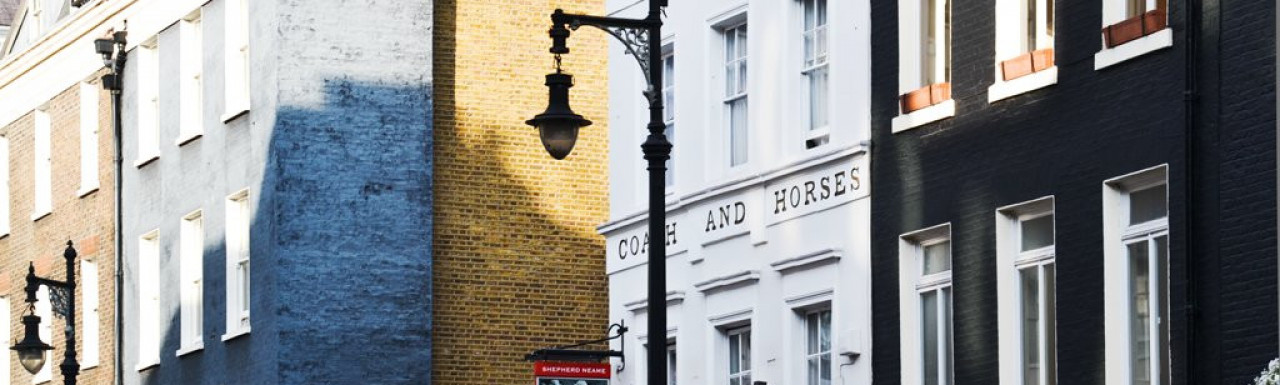 Coach and Horses public house at 5 Hill Street in Mayfair, London W1.