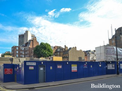 View to Audley Square development from Wayerton Street and Hill Street in summer 2017.