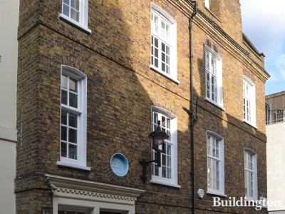 Front elevation of No 6 Derby Street in Mayfair, London W1.