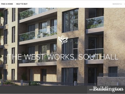 The West Works development in Southall on Redrow website at redrow.co.uk.