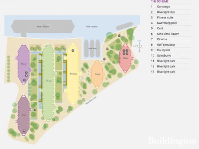 Site plan of the Riverlight development at berkeleygroup.co.uk