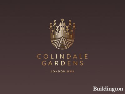 Colindale Gardens logo in the development brochure at redrow.co.uk.