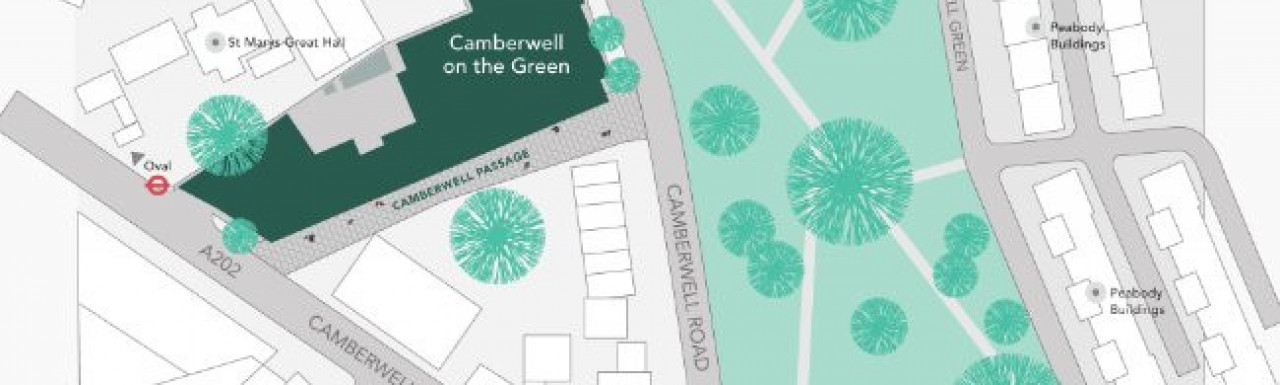 Site plan of Camberwell On The Green at camberwellonthegreen.co.uk