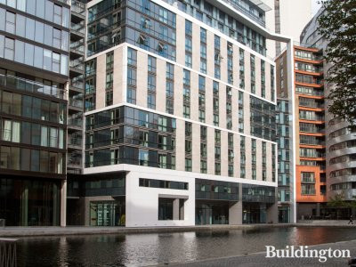 Waterline House at 4 Merchant Square in Paddington Basin, London W2.