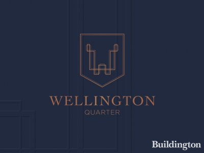 Wellington Quarter logo on the development brochure cover .