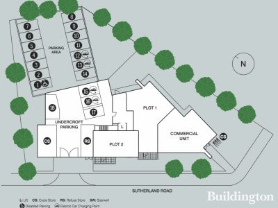 Site plan of Unity Works development on Peabody's website