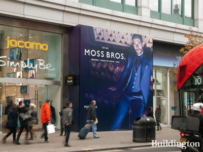 Jacamo store and Moss Bros store about to be opened at 134-140 Oxford Street in November 2014.