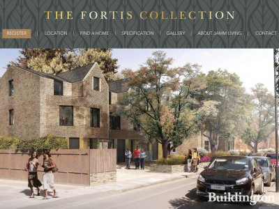 CGI of the The Fortis Collection on the development website at thefortiscollection.com; screen capture.