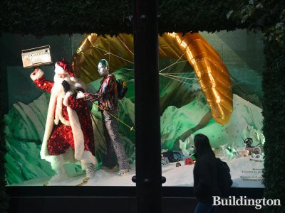 Christmas themed Selfridges window in October 2016