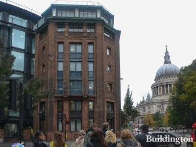 New Bracken House is across the road from St Paul's Cathedral