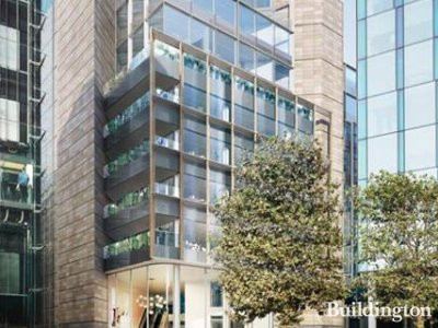CGI of 1 Triton Square development in London NW1; designed by Arup Associates.
