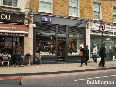 Utility store at 282 Pentonville Road in London N1.