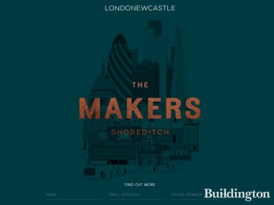 The Makers development website at themakersshoreditch.com; screen capture.