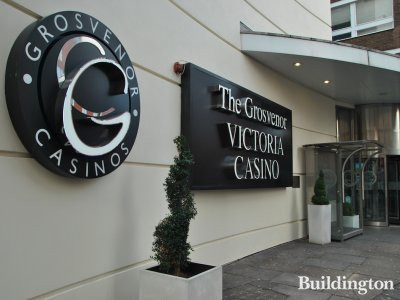 The entrance to The Grosvenor Victoria Casino on Harrowby Street.