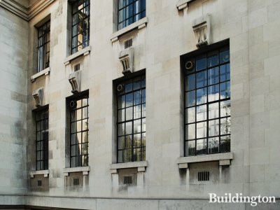 Old Marylebone Town Hall windows before the refurbishment.