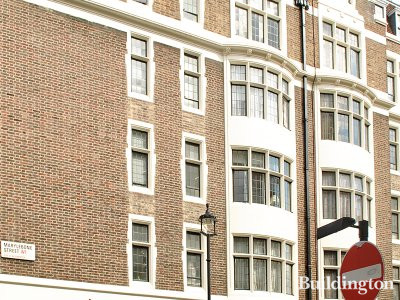 Estate agent Druce has offices on the ground floor of Melcombe Regis Court in Marylebone, London W1.