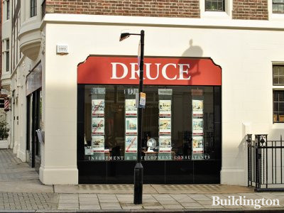 Estate agent Druce has a window on Marylebone Street.