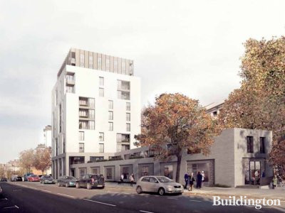 CGI of Lisson Arches development on Lisson Grove by mae Architects at westminster.gov.uk