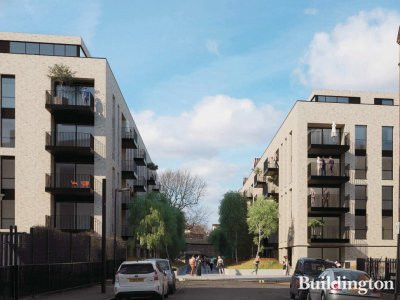 CGI of Luton Street development in London NW8. Architect Flanaghan Lawrence's vision at lutonstreetregen.co.uk