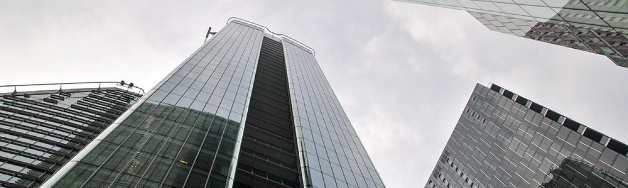 Buildings on Ropemaker Street in London EC2.
