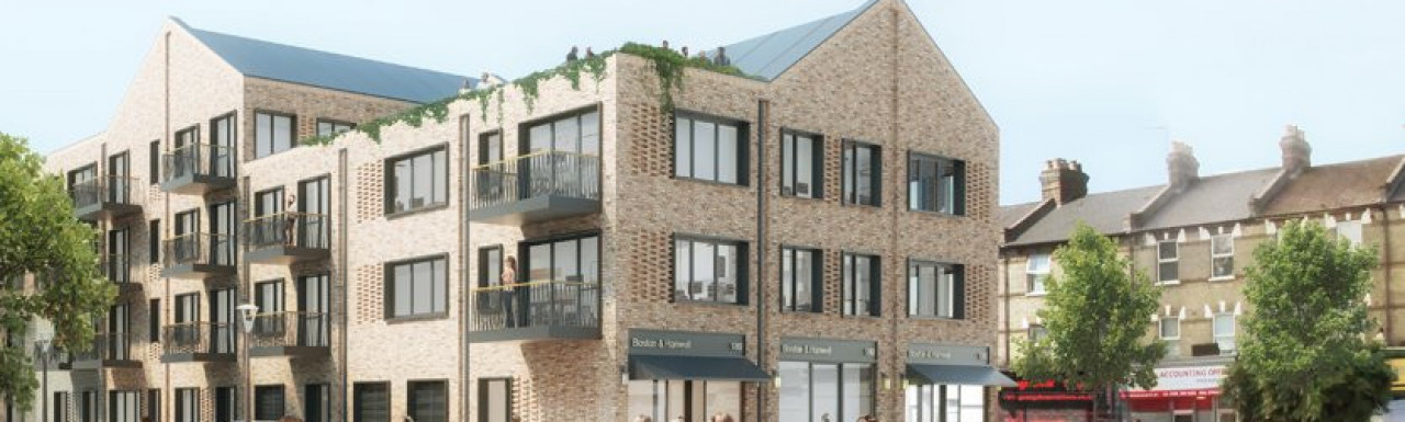 Architect Assael's vision of 75-109 Boston Road; screen capture from bostonroadhanwell.co.uk