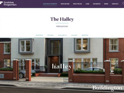 The Halley development by Fruitition Properties in Finchley, London N3, screen capture from fruitionproperties.co.uk
